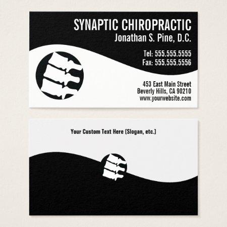 Modern Swirl Spine Logo Chiropractor Business Card