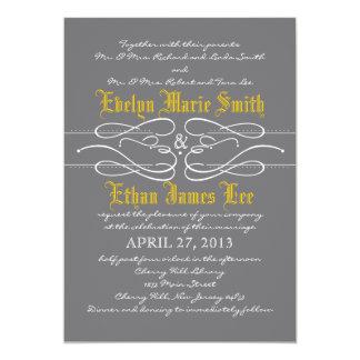 Modern Swirl Wedding Invitation