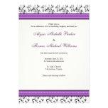 Modern Swirl Wedding Invitation (Purple)