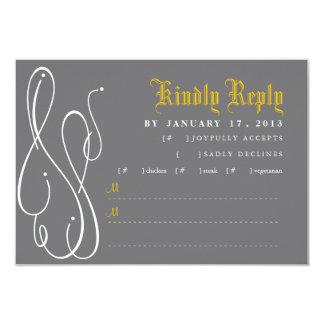 Modern Swirl Wedding Invitation RSVP