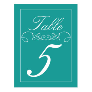 Modern Swirl Wedding Table Number Cards