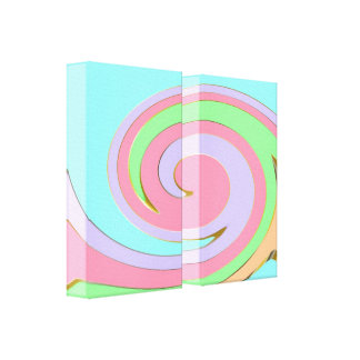 Modern Swirly Abstract Art Wrapped Canvas Canvas Print