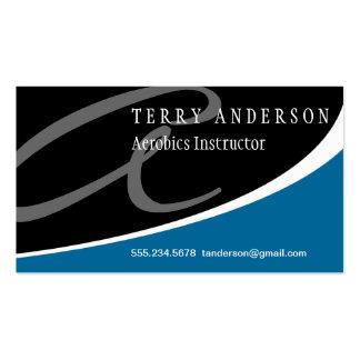 Modern Swoosh Monogram A Business Card