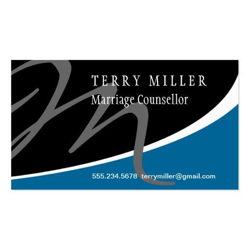 Modern Swoosh Monogram M Business Card Template