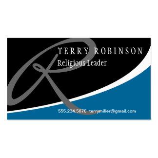 Modern Swoosh Monogram R Business Card