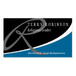 Modern Swoosh Monogram R Business Cards