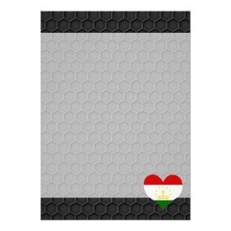 "Modern Tajik flag 5"" X 7"" Invitation Card"