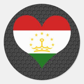 Modern Tajik flag Classic Round Sticker
