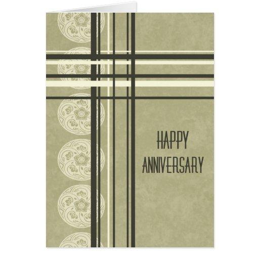 Modern Tan Employee  Anniversary Card