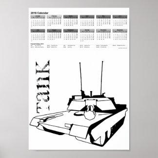 Modern Tank in Tribales / calendar 2016 DINA4 Poster