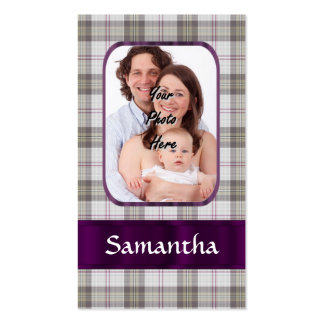 Modern Tartan photo background Business Card Templates