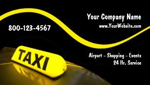Taxi Cab Business Cards Zazzle