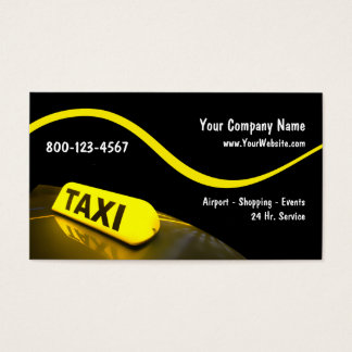 Modern Taxi Business Cards