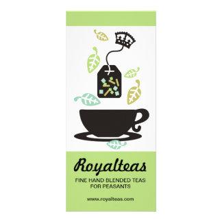 Modern tea bag tea leaves teacup crown rack card