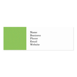 Modern Teal and Yellow Check Pattern Mini Business Card