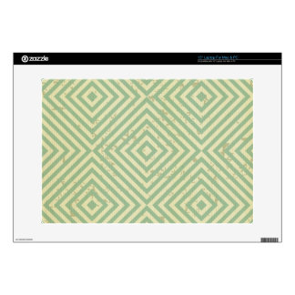 "modern,teal,beige,graphic design,pattern,cute,fun skin for 15"" laptop"