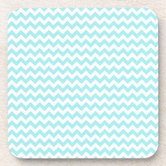 Modern Teal Chevrons Pattern Coaster