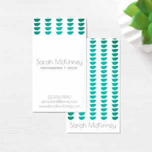 Half circle business cards templates zazzle modern teal half circle business cards colourmoves