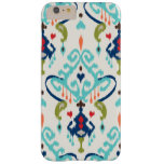 Modern teal navy red ikat tribal pattern barely there iPhone 6 plus case