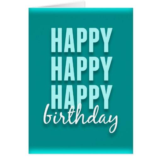 Modern Teal Satin Happy Birthday Card Zazzle Modern Happy Birthday Wishes