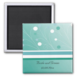 Modern Teal Save the Date Magnet