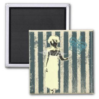 modern teal stripes Junior Bridesmaid Magnet