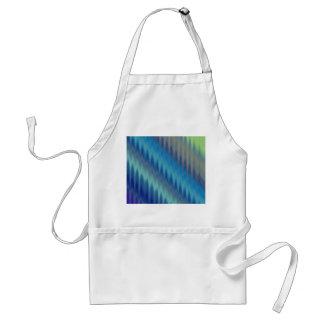 Modern Teal Turquoise Ikat Chevron Zigzag Apron