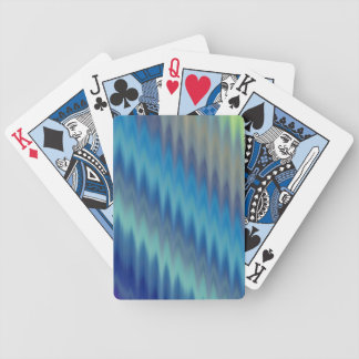 Modern Teal Turquoise Ikat Chevron Zigzag Bicycle Playing Cards