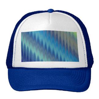 Modern Teal Turquoise Ikat Chevron Zigzag Trucker Hat