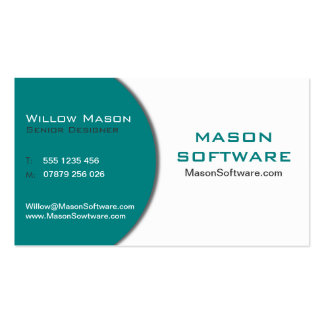 Modern Teal & White Technology Business Card