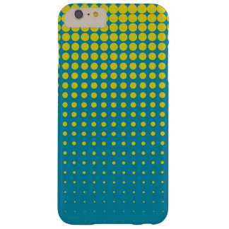 Modern techno shrinking polka dots blue gold barely there iPhone 6 plus case