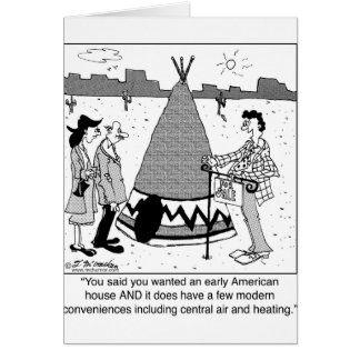 Modern Tee Pee has Central Air & Heating Greeting Cards