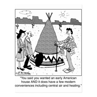 Modern Tee Pee has Central Air & Heating Postcards