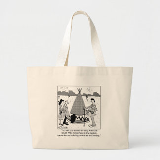 Modern Tee Pee has Central Air & Heating Tote Bags