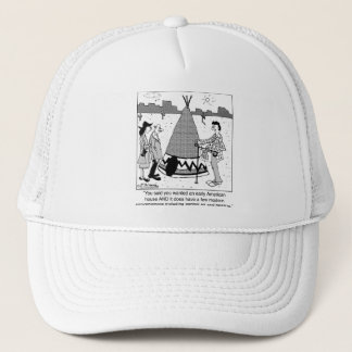 Modern Tee Pee has Central Air & Heating Trucker Hat