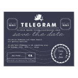 Modern Telegram Card Save the Date - Navy Personalized Invite