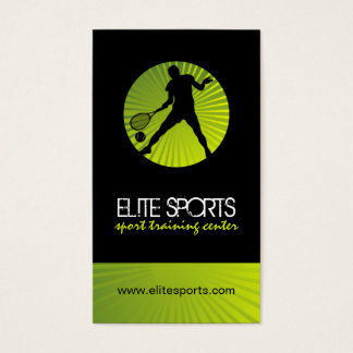 Modern Tennis Coach Business Cards