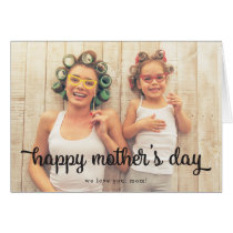 Modern Text Photo Mother's Day Greeting Card