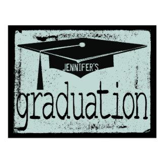 Modern Texture Graduation Party Postcard