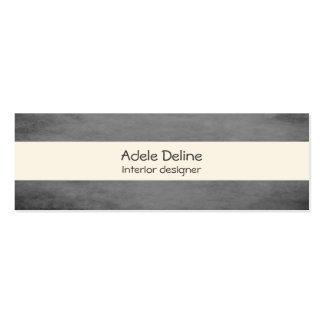 Modern Texture Grey Interior Designer Mini Business Card