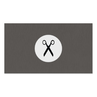 Modern Texture Grey Scissor Hairstylist Double-Sided Standard Business Cards (Pack Of 100)