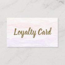 Modern Texture Light Pink Golden Beauty Salon Loyalty Card