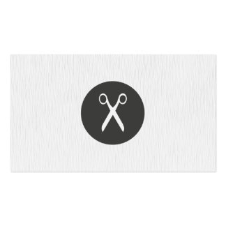 Modern Texture White Scissor Hairstylist Double-Sided Standard Business Cards (Pack Of 100)