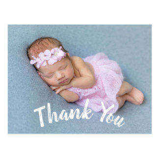 Modern Thank You Baby Birth Announcement Postcard