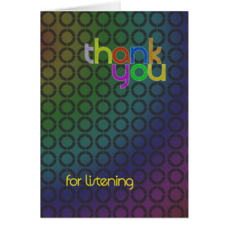 Modern Thank You for listening card