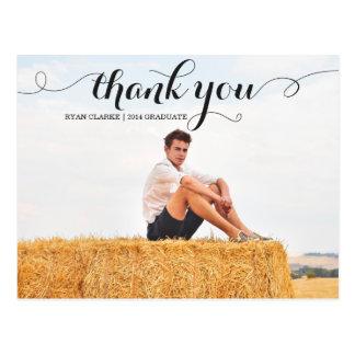 MODERN THANK YOU GRADUATION POST CARD