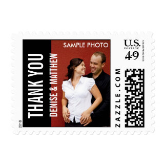Modern Thank You Postage Stamps with Photo