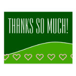"[ Thumbnail: Modern ""Thanks So Much!"" Postcard ]"