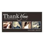 MODERN THANKS   WEDDING THANK YOU CARD CUSTOM PHOTO CARD