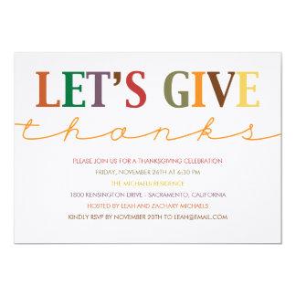 Modern Thanksgiving Dinner Invitation Invite